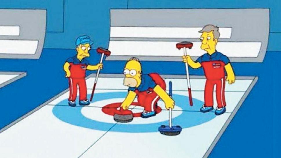 Capítuilo de la serie Los Simpson en la que los personajes juegan curling
