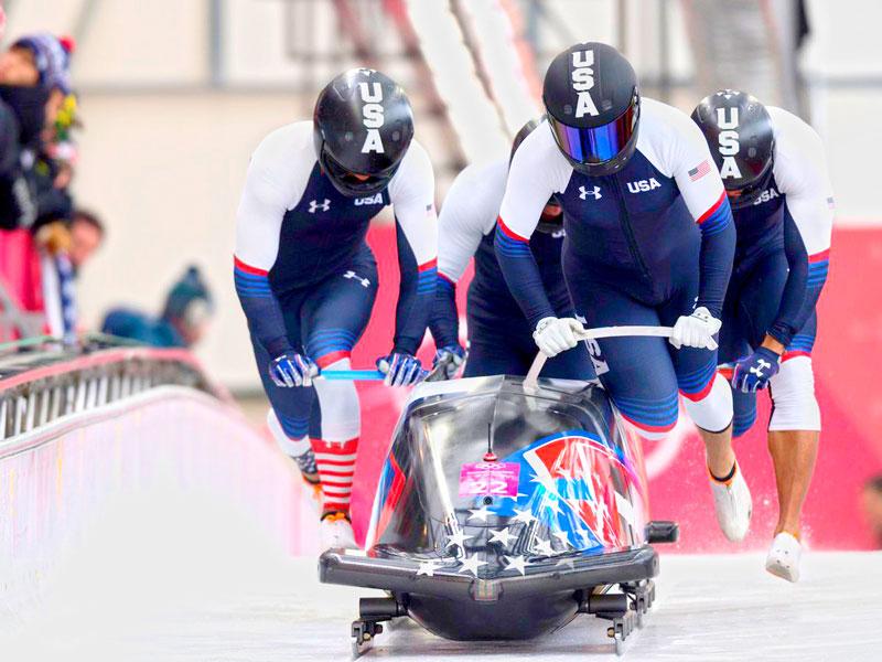 Arrancada del equipo de EE.UU. en los Juegos Olímpicos de invierno Pyeong Chang 2018