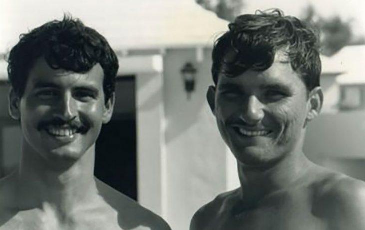 Octavio Lorenzo y Nélido Manso representando a Cuba en el Mundial de Vela en España 1999