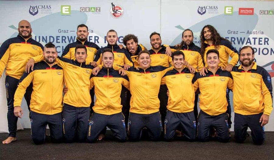 El equipo de Colombia, actual campeón mundial ruby subacuático