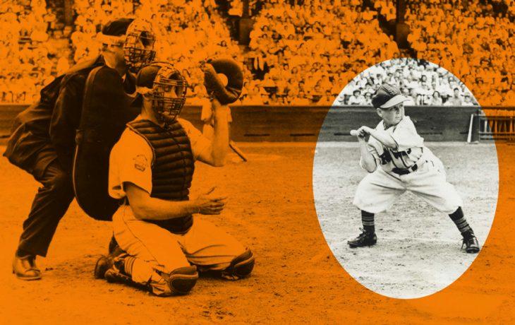 Eddie Gaedel en su turno al bate en la MLB