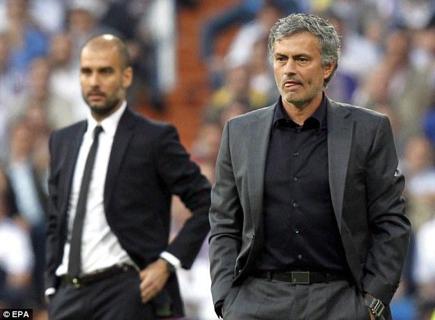 Guardiola y Mourinho representaron a la perfección la rivalidad del Clásico entre el Madrid y el Barcelona.