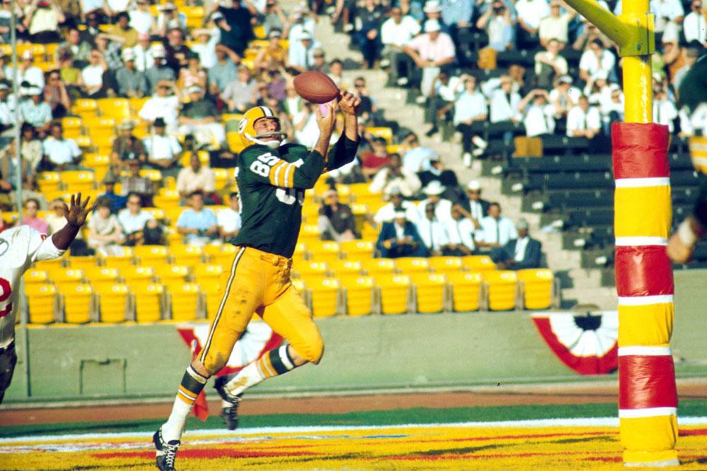 Max McGee, wide reciver de los Packers y figura decisiva durante el partido