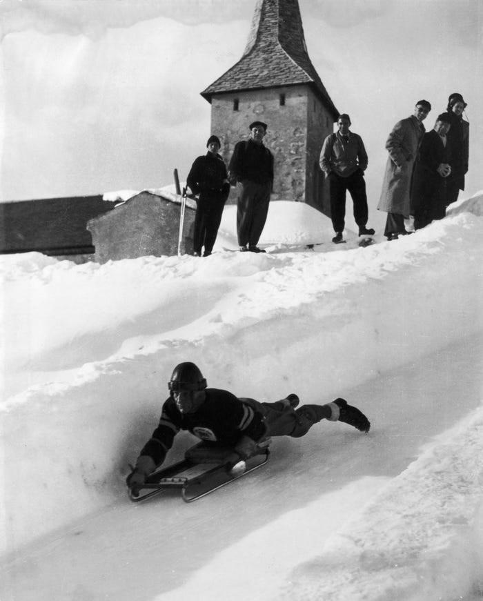 El skeleton en las Olimpiadas de Invierno de 1948.
