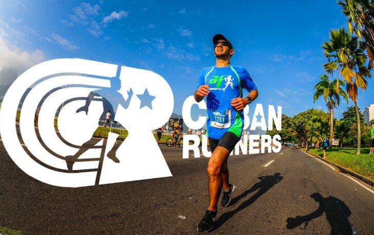 Javier, creador de Cuban Runners, durante una carrera en Brasil.