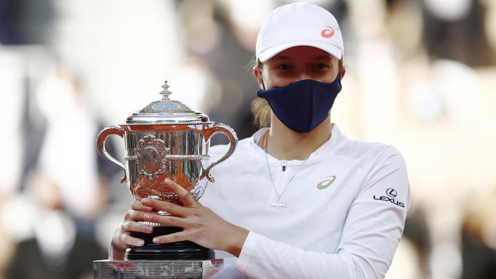 Iga Świątek, con 19 años, conquistó su primer título profesional. Foto: Marca