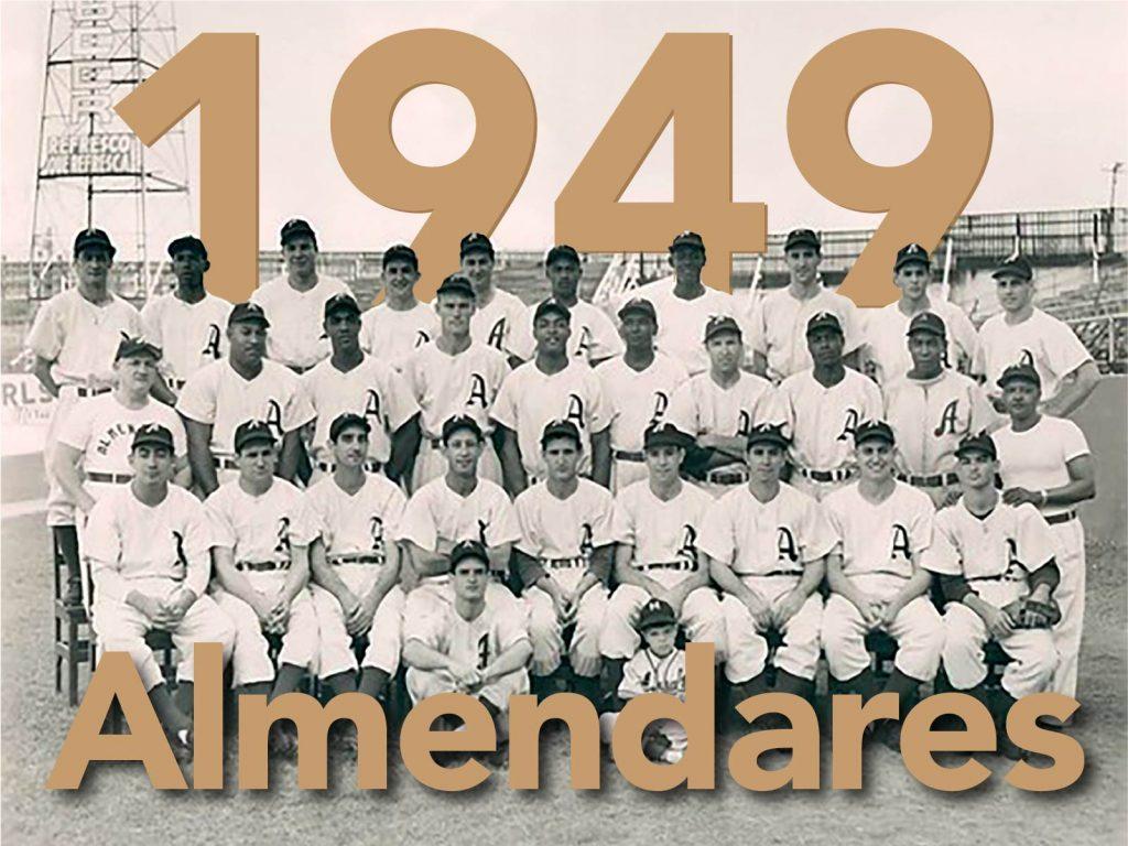 Equipo Almendares campeón de la primera edición de la Serie del Caribe